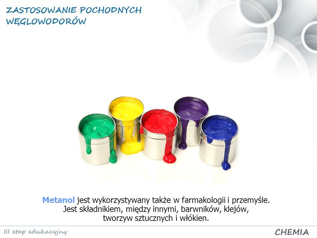 Metanol jest wykorzystywany także w farmakologii i przemyśle