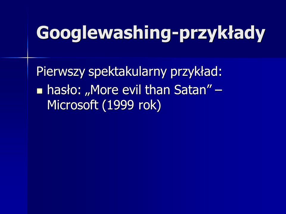 Googlewashing-przykłady