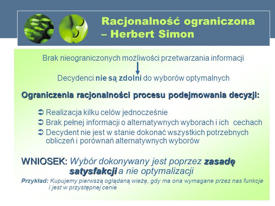 Racjonalność ograniczona – Herbert Simon