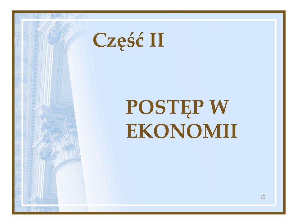Część II POSTĘP W EKONOMII