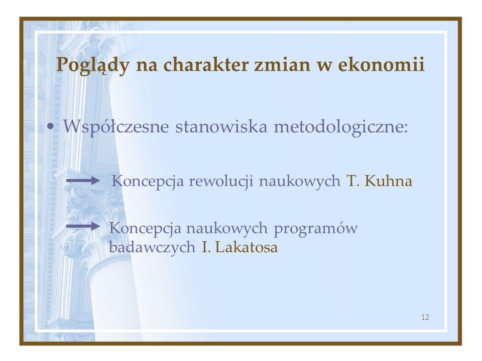 Poglądy na charakter zmian w ekonomii
