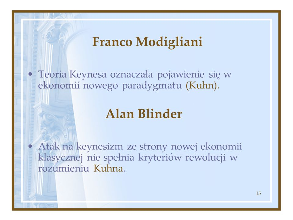 Franco Modigliani Alan Blinder