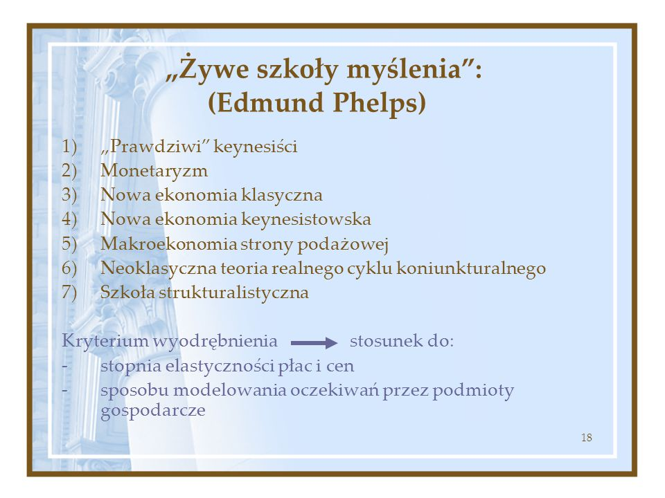 """""""Żywe szkoły myślenia : (Edmund Phelps)"""