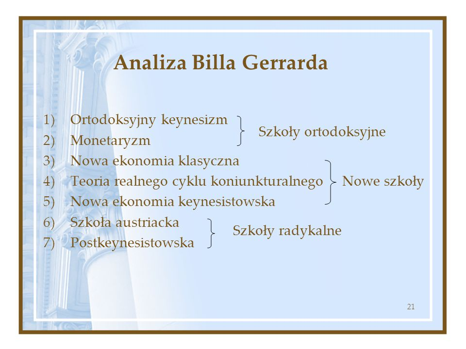 Analiza Billa Gerrarda