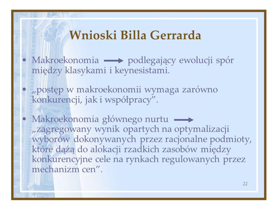 Wnioski Billa Gerrarda