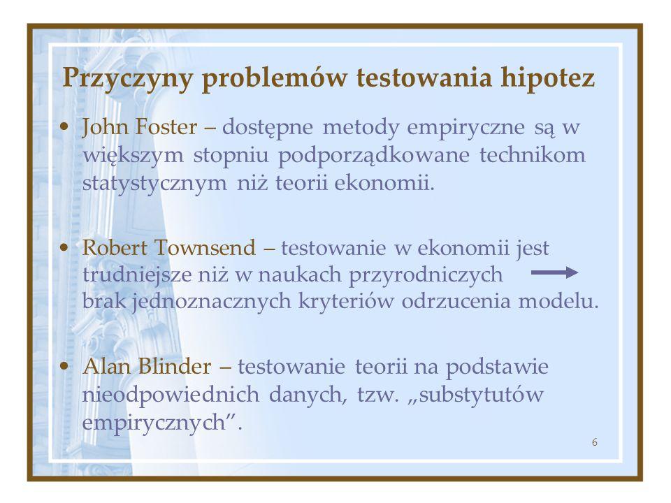 Przyczyny problemów testowania hipotez