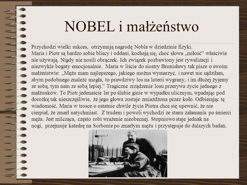 NOBEL i małżeństwo