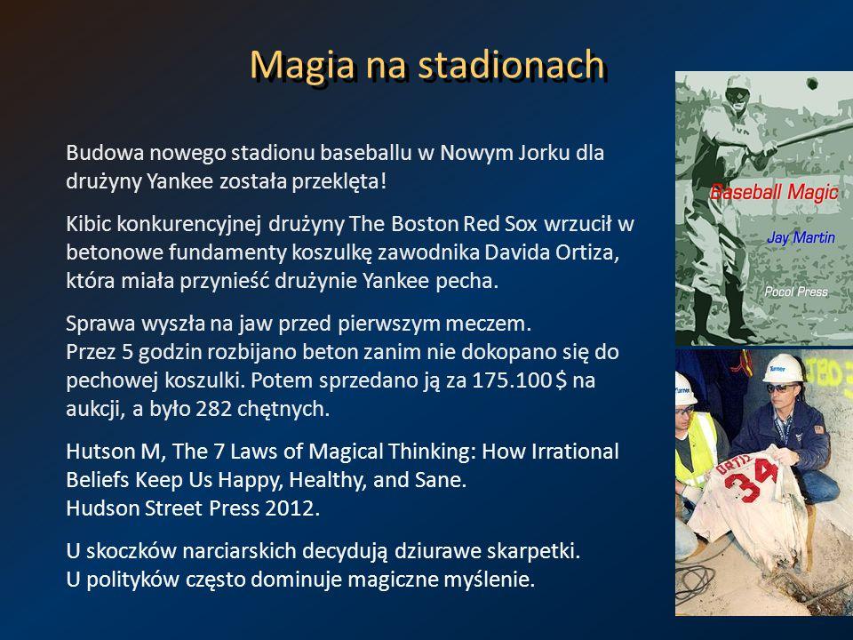 Magia na stadionach Budowa nowego stadionu baseballu w Nowym Jorku dla drużyny Yankee została przeklęta!