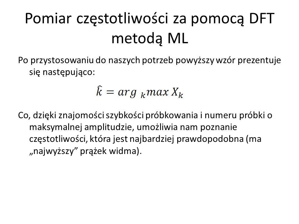 Pomiar częstotliwości za pomocą DFT metodą ML