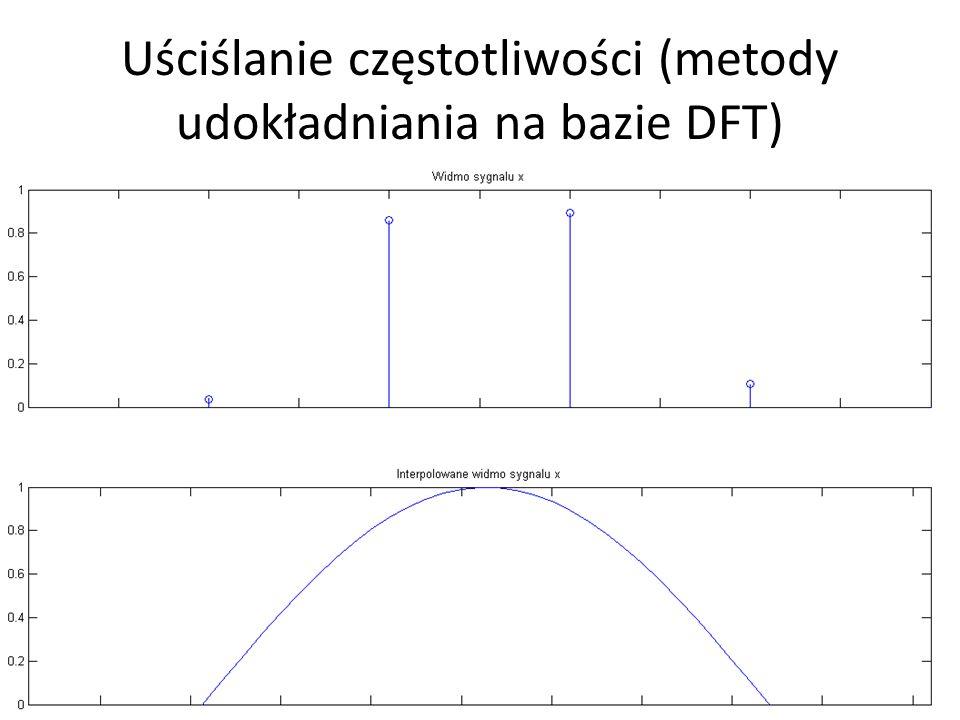 Uściślanie częstotliwości (metody udokładniania na bazie DFT)