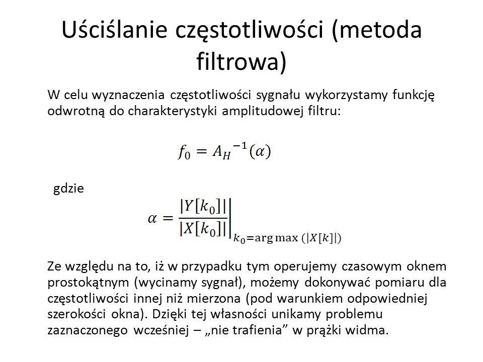 Uściślanie częstotliwości (metoda filtrowa)