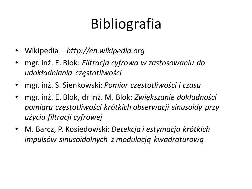 Bibliografia Wikipedia – http://en.wikipedia.org