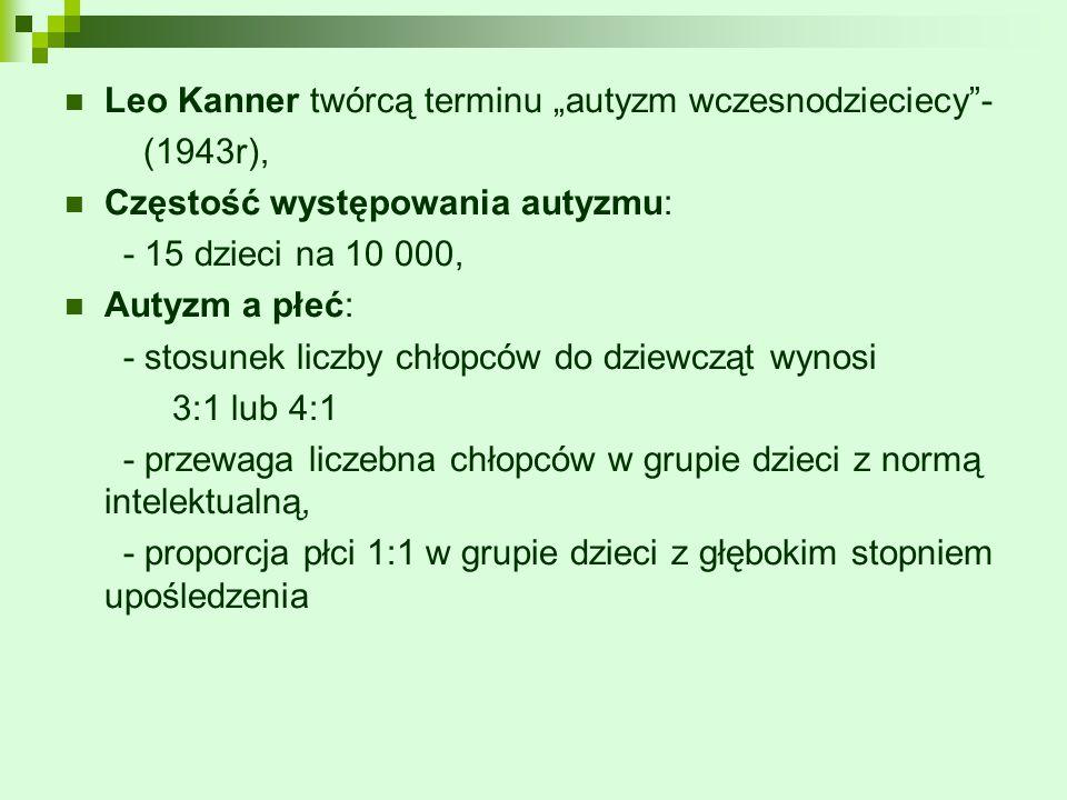 """Leo Kanner twórcą terminu """"autyzm wczesnodzieciecy -"""