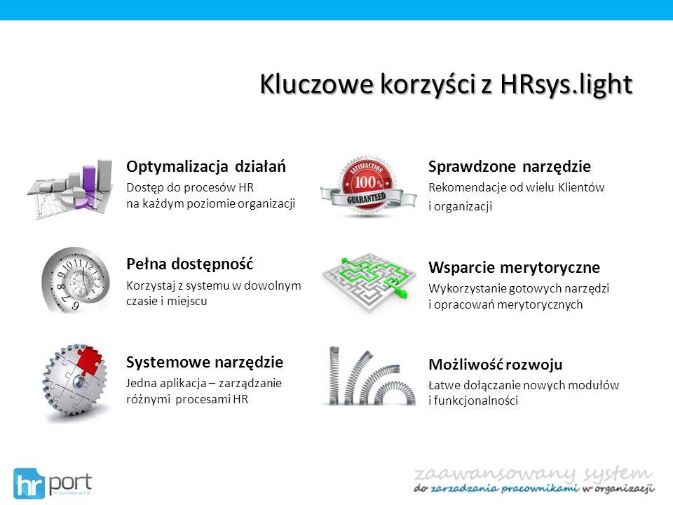 Kluczowe korzyści z HRsys.light