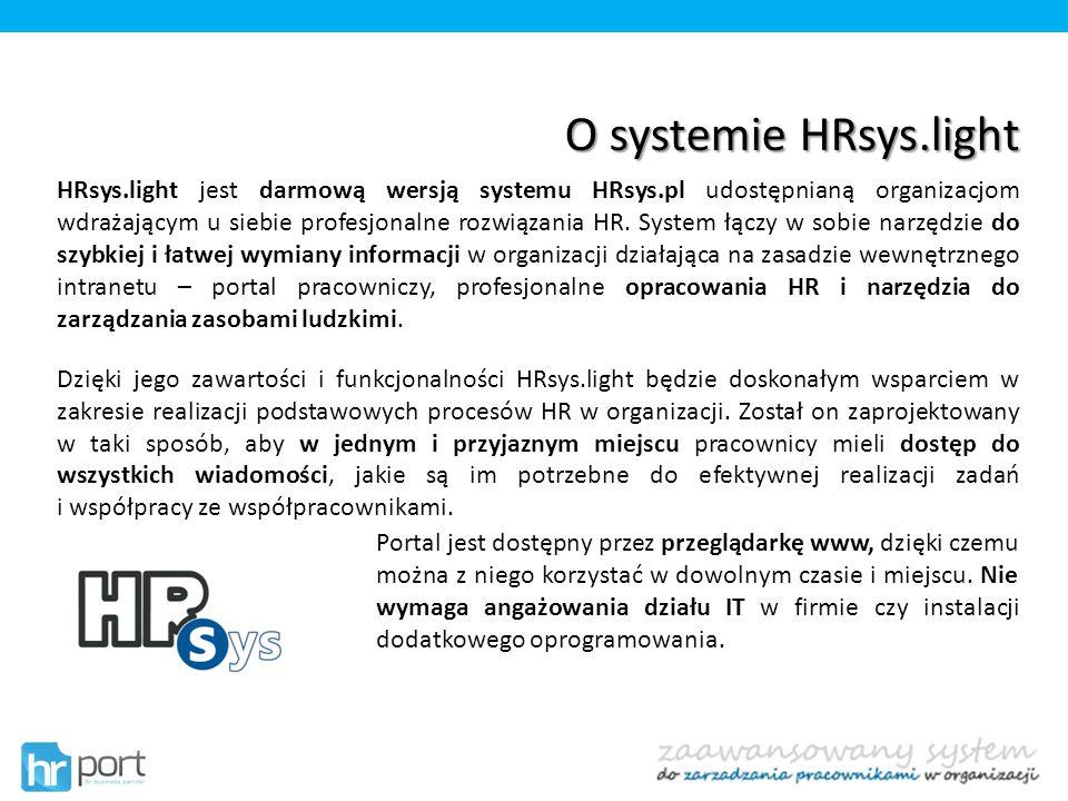 O systemie HRsys.light