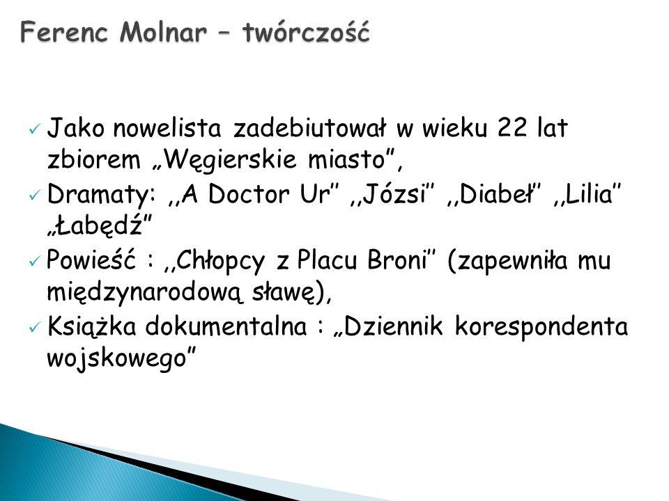 Ferenc Molnar – twórczość