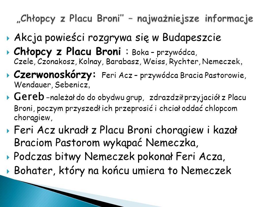 """""""Chłopcy z Placu Broni'' – najważniejsze informacje"""