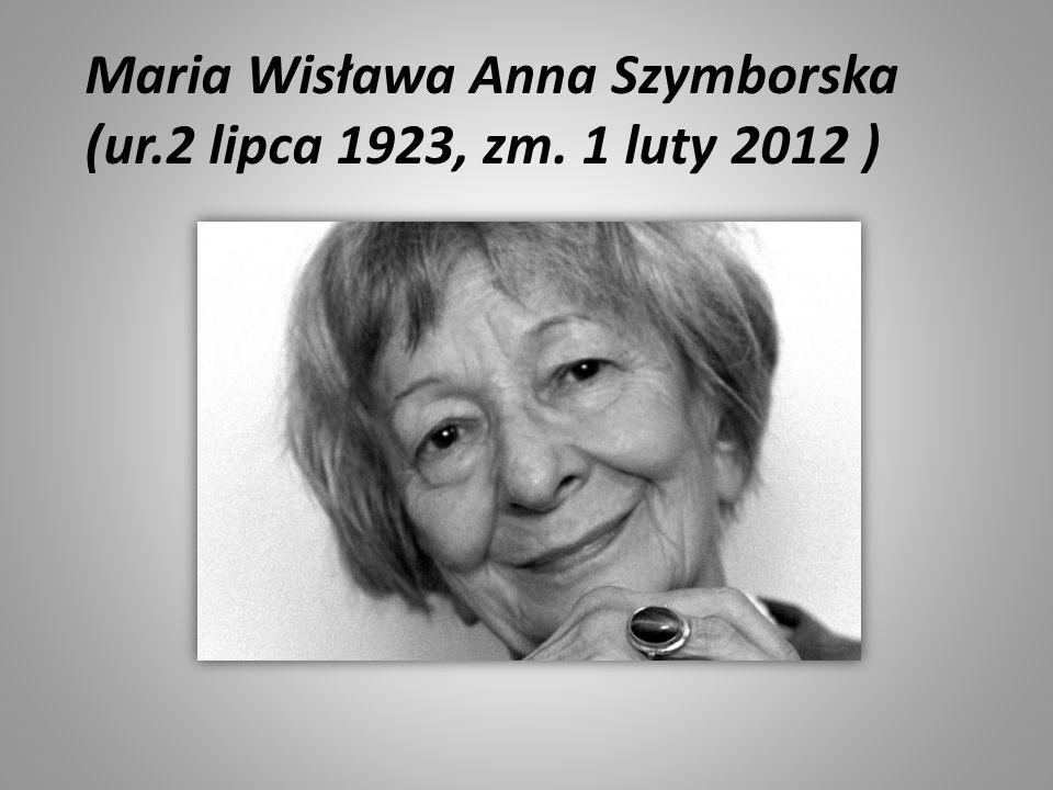 Maria Wisława Anna Szymborska