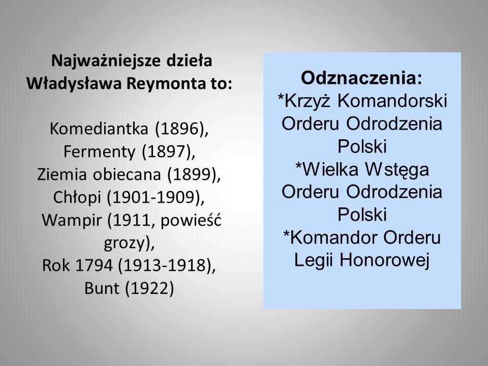 *Krzyż Komandorski Orderu Odrodzenia Polski