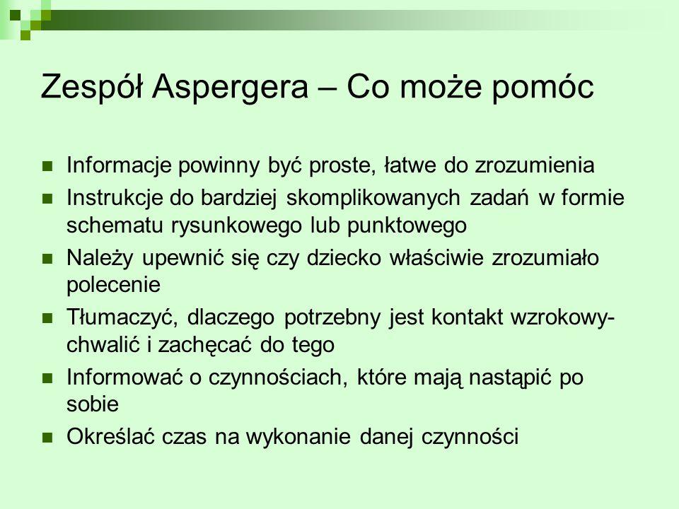 Zespół Aspergera – Co może pomóc