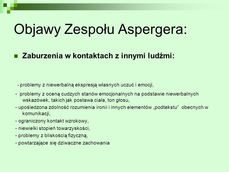 Objawy Zespołu Aspergera: