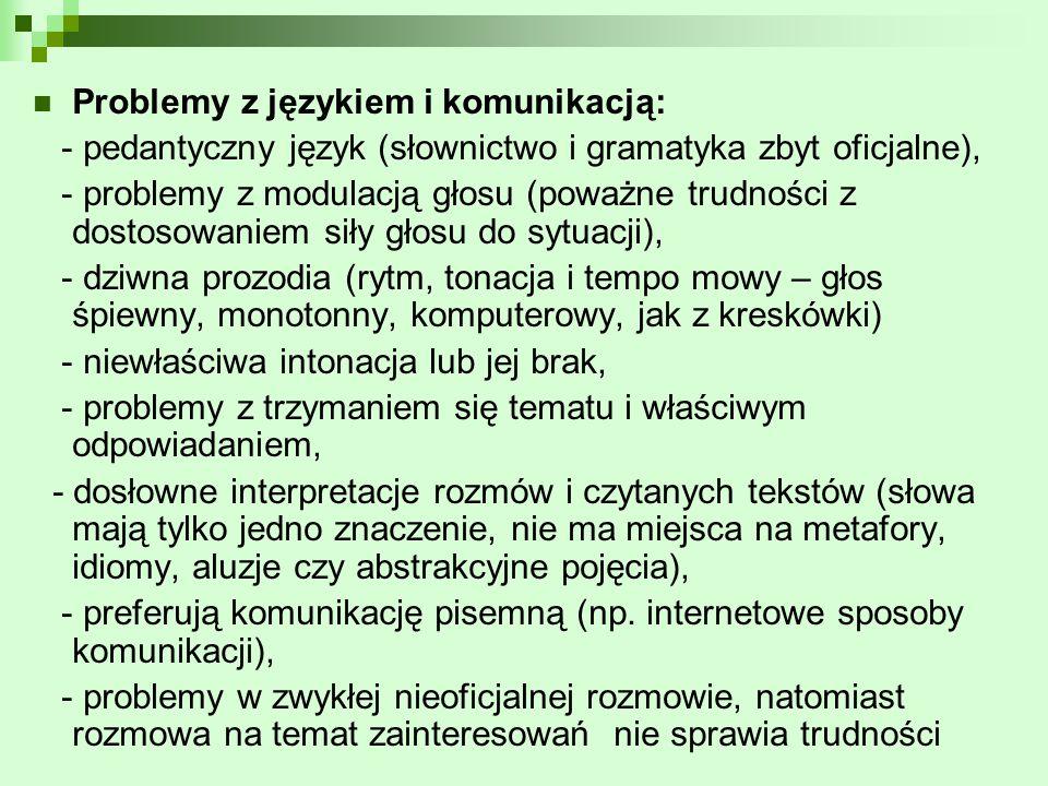 Problemy z językiem i komunikacją: