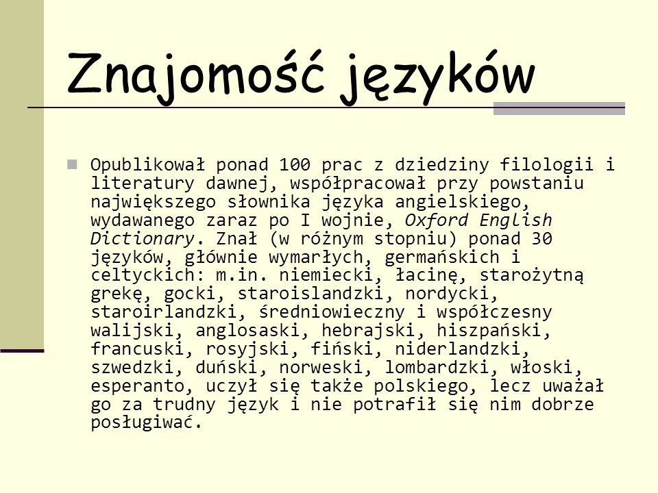 Znajomość języków