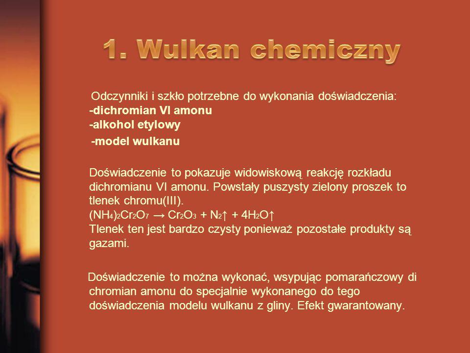 1. Wulkan chemiczny