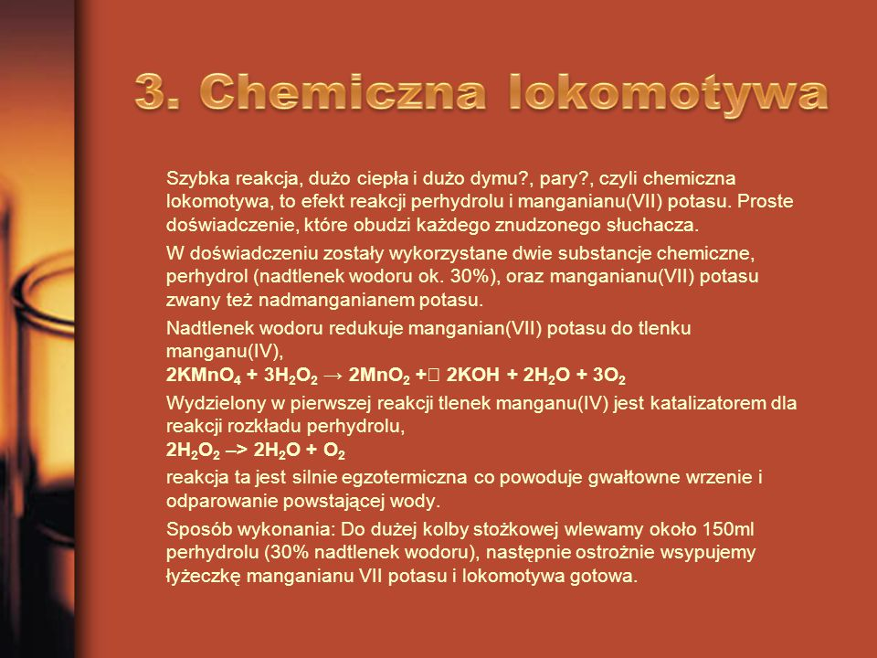 3. Chemiczna lokomotywa