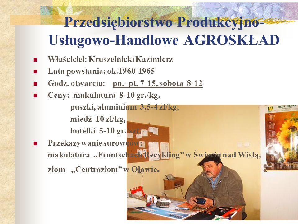Przedsiębiorstwo Produkcyjno-Usługowo-Handlowe AGROSKŁAD