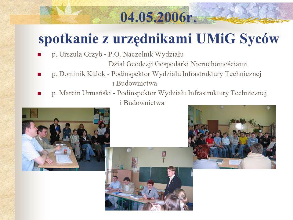 04.05.2006r. spotkanie z urzędnikami UMiG Syców