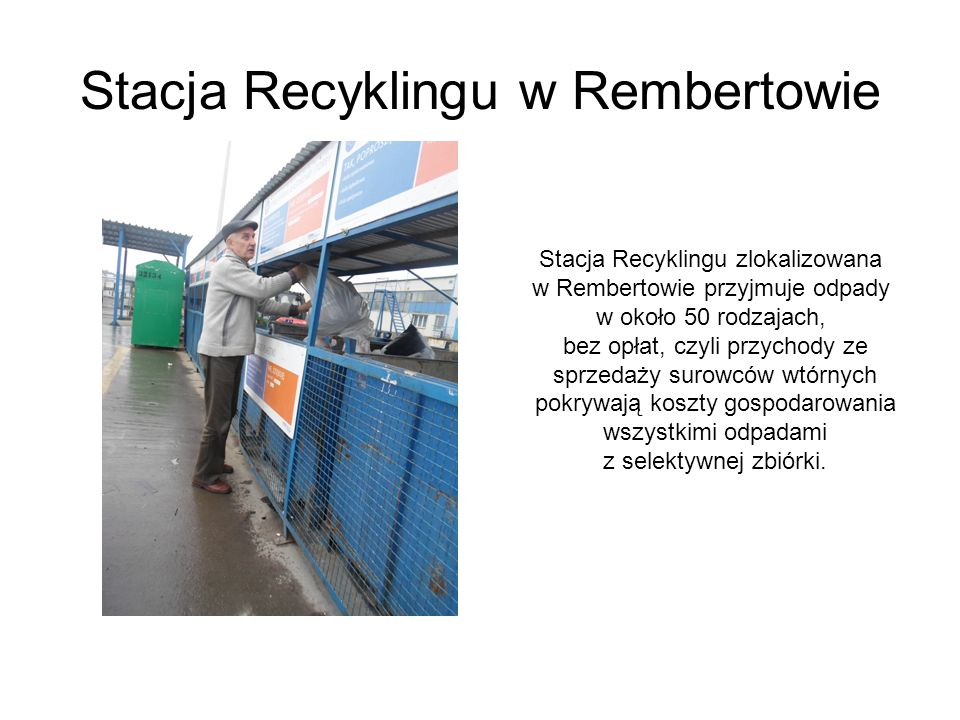 Stacja Recyklingu w Rembertowie