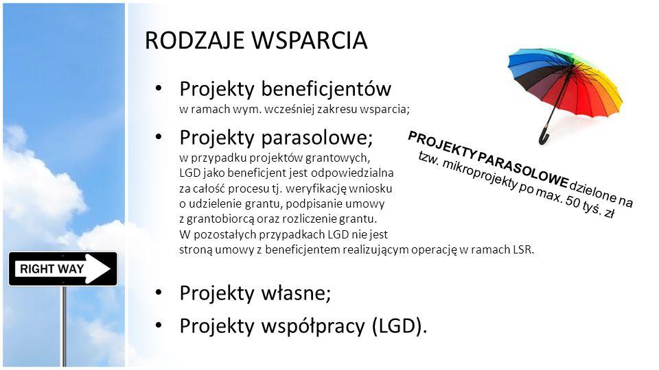 PROJEKTY PARASOLOWE dzielone na tzw. mikroprojekty po max. 50 tyś. zł