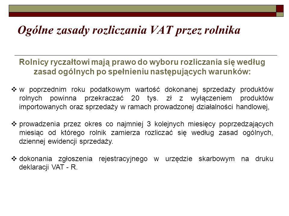 Ogólne zasady rozliczania VAT przez rolnika