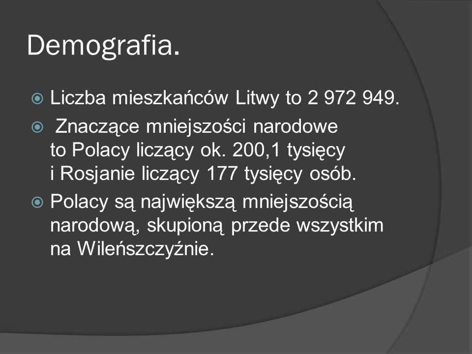 Demografia. Liczba mieszkańców Litwy to 2 972 949.