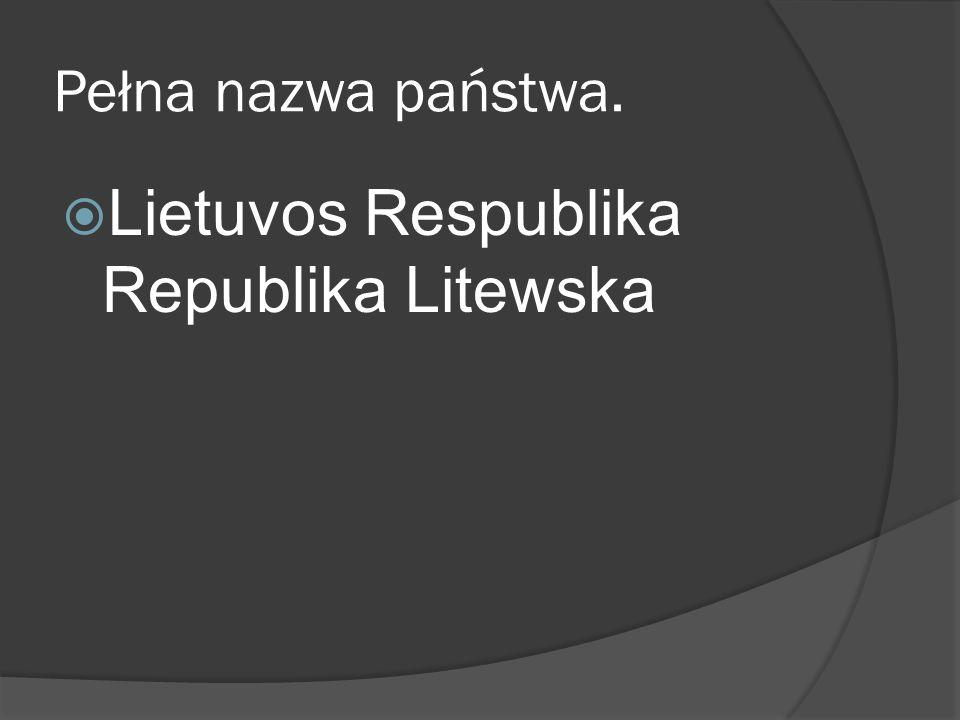 Lietuvos Respublika Republika Litewska