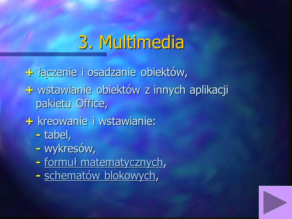 3. Multimedia + łączenie i osadzanie obiektów,
