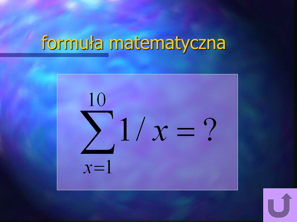 formuła matematyczna