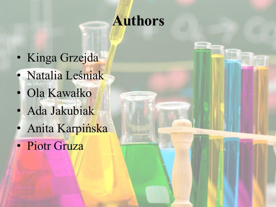 Authors Kinga Grzejda Natalia Leśniak Ola Kawałko Ada Jakubiak