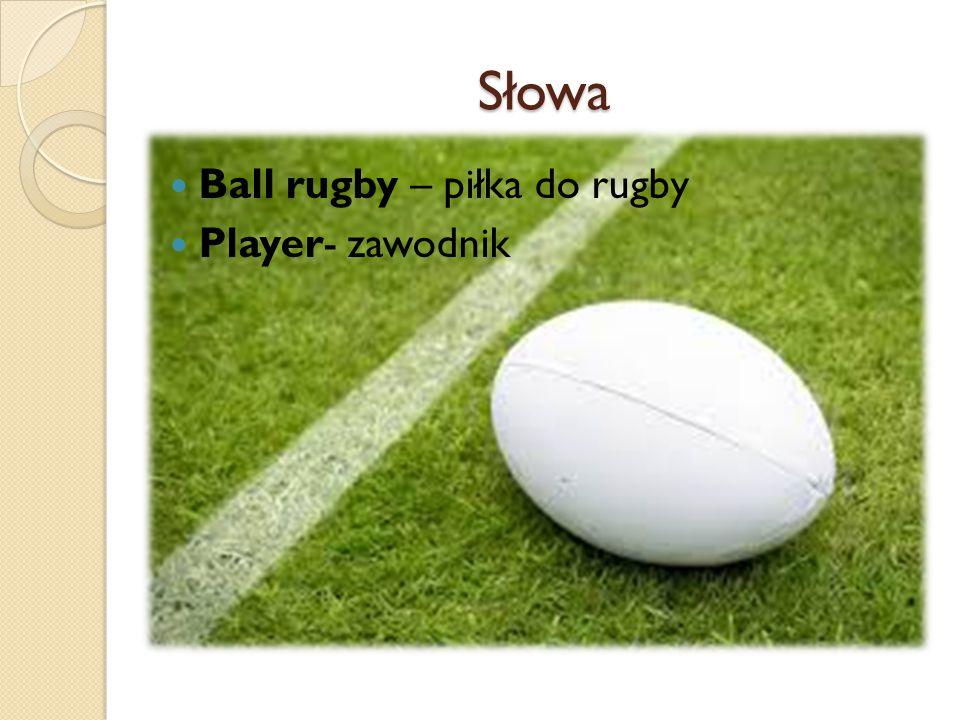 Słowa Ball rugby – piłka do rugby Player- zawodnik