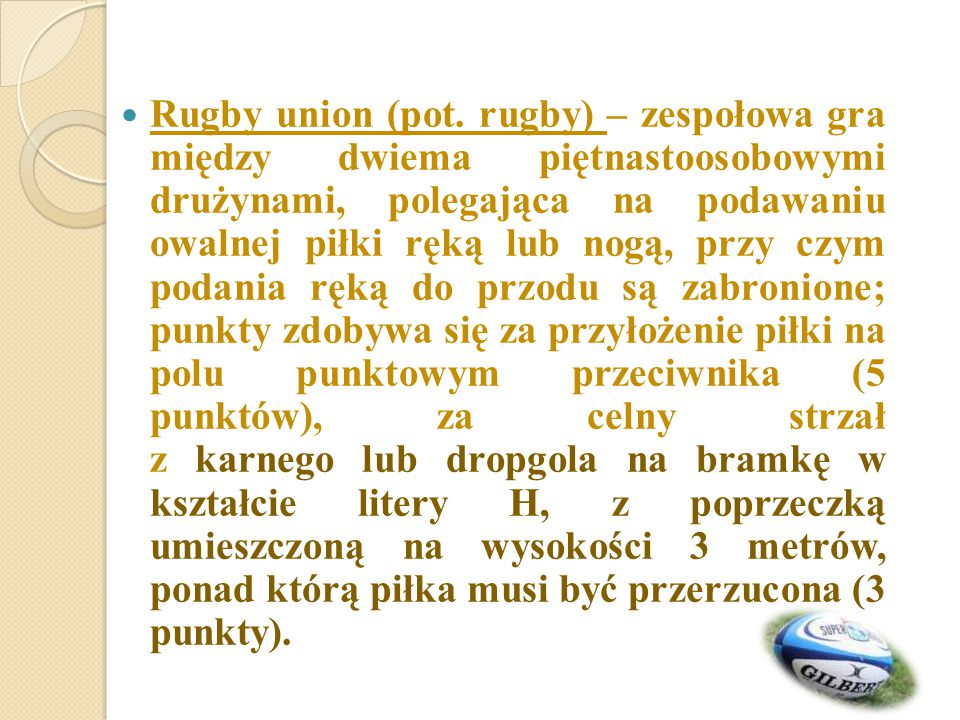Rugby union (pot.