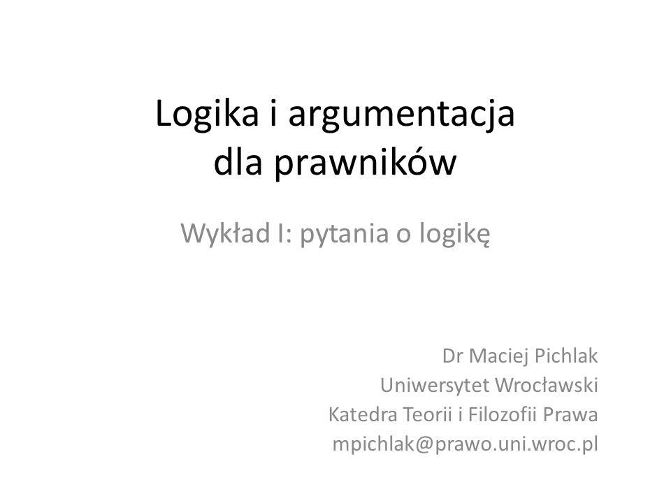 Logika i argumentacja dla prawników