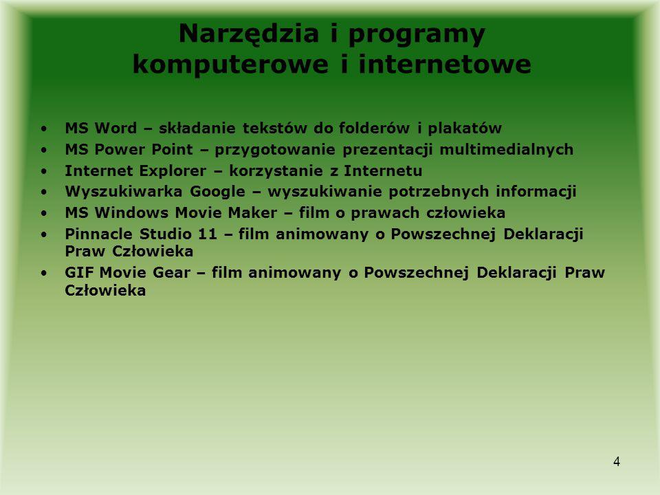 Narzędzia i programy komputerowe i internetowe