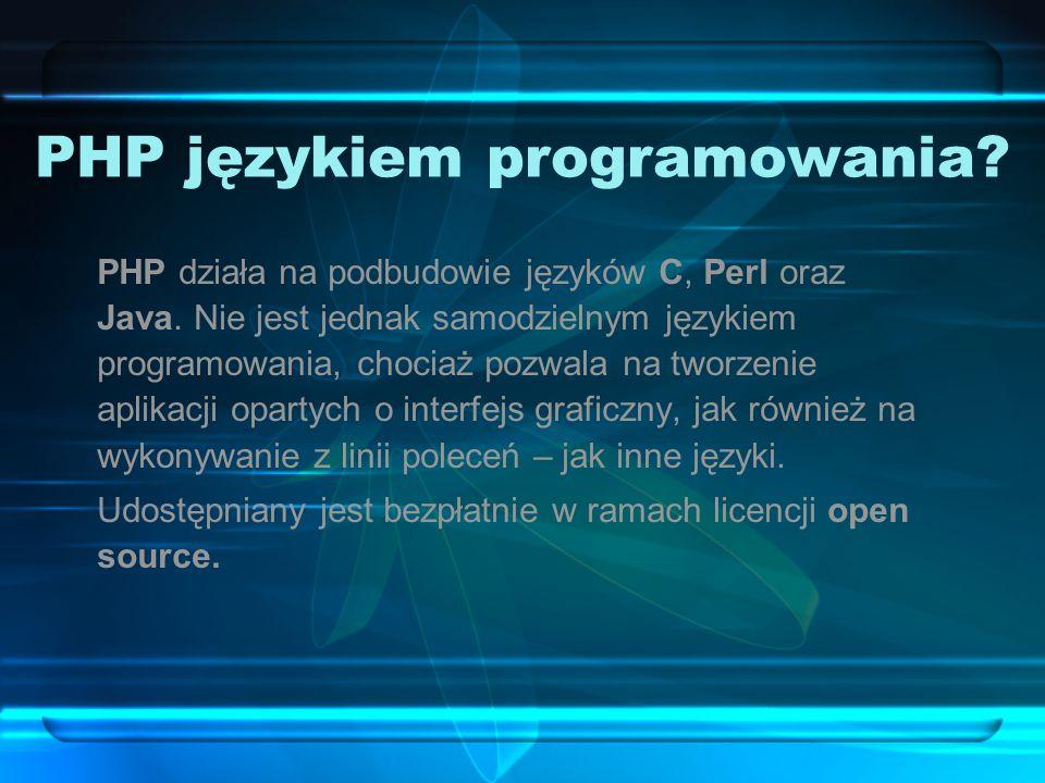 PHP językiem programowania