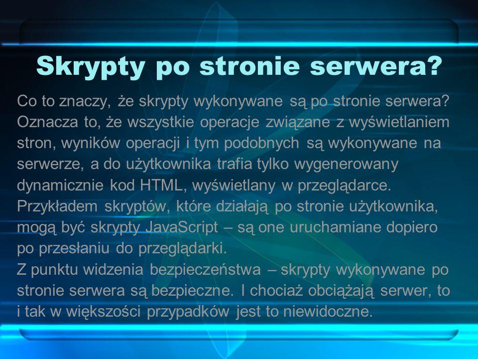 Skrypty po stronie serwera