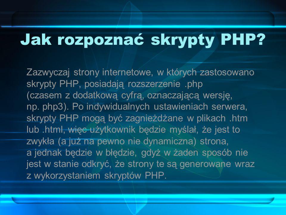 Jak rozpoznać skrypty PHP