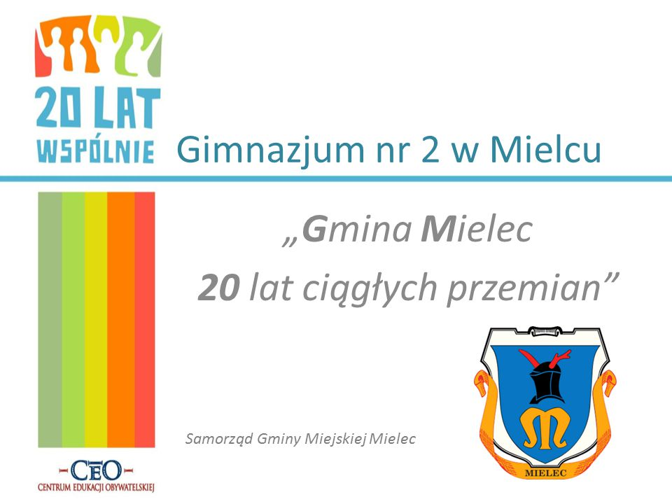 """""""Gmina Mielec 20 lat ciągłych przemian"""