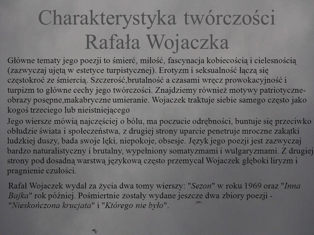 Charakterystyka twórczości Rafała Wojaczka