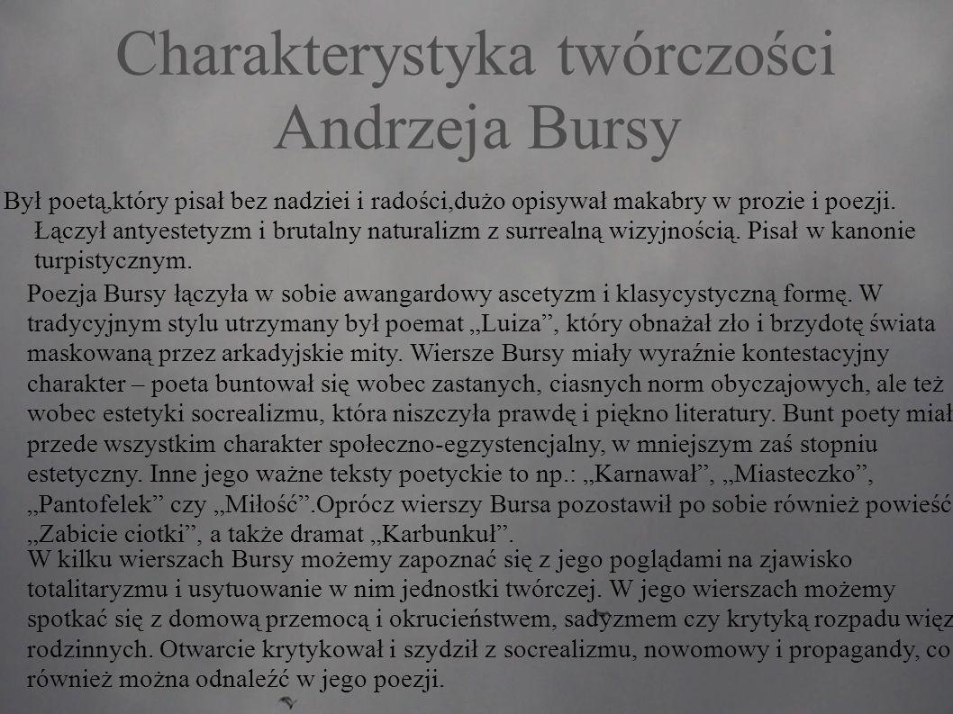 Charakterystyka twórczości Andrzeja Bursy