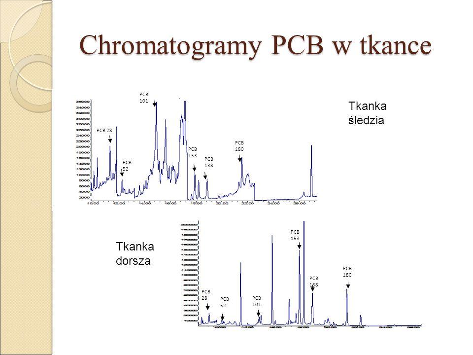 Chromatogramy PCB w tkance